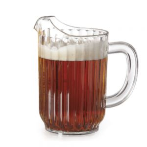 PITCHER WATER PLASTIC CLEAR