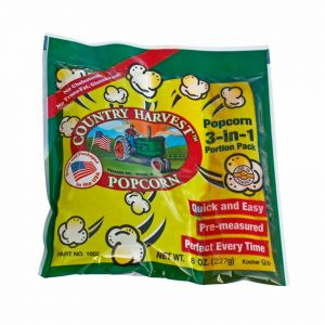 Country Harvest 6 oz. Tri-Pack Portion Popcorn Pack - Case of 40