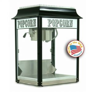 1911 Originals 8 oz Popcorn Machine - Black and Chrome