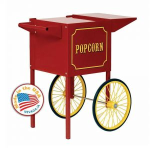Small Red Cart for 4 oz Popcorn Machines