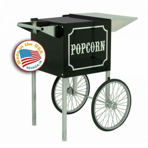 Small Black and Chrome Cart for 4 oz Popcorn Machines
