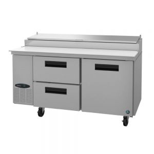 "Hoshizaki PR67A-D2 Steelheart 67"" Pizza Prep Table with One Door and Two Drawers"