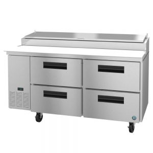 "Hoshizaki PR67A-D4 Steelheart 67"" Pizza Prep Table with Drawers"