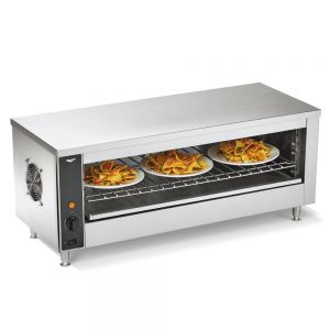 "Cheese Melter and Broiler Oven - 3 (10"") Plates, 240 Volt"