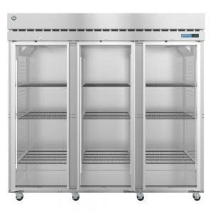 Steelheart Three Section Glass Door Reach In Refrigerator