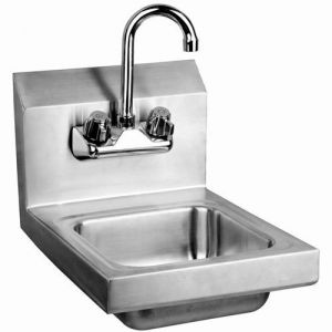 Wall Mounted Hand Sink with Faucet, 12 Inches, NSF