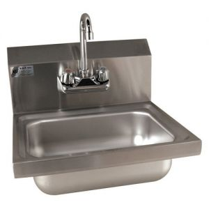 Wall Mounted Hand Sink with Faucet, 17 Inches, NSF