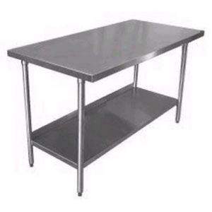 Stainless Steel Worktable, 24 x 72 Inches, NSF
