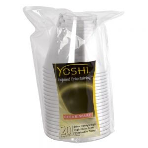 EMI Yoshi CWT9 9 Oz Clear Disposable Tumbler - Pack of 25