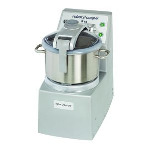 15 Qt. Vertical Cutter/Mixer Food Processor With Stainless Steel Bowl Plus 4 Qt. Mini Bowl Assembly - 4.5 HP, Two Speed