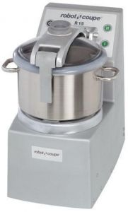 15 Qt. Vertical Cutter/Mixer Food Processor With Stainless Steel Bowl - 4 HP, Two Speed