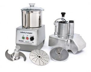 7 Qt. Combination Veg Prep and Vertical Cutter/Mixer Food Processor With Continuous Feed Kit With Stainless Steel Bowl - 3 HP, Two Speed