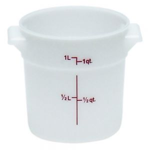 1 Quart Round Poly Food Storage Container (