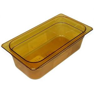 Third Size Amber Food Pan, 4 Inch Deep