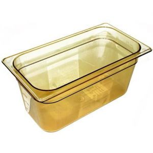 Third Size Amber Food Pan, 6 Inch Deep