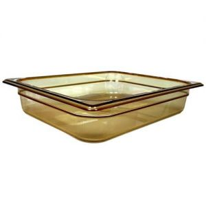 Half Size Amber Food Pan, 2.5 in. Deep