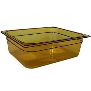 Half Size Amber Food Pan, 4 in. Deep