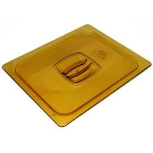 Half Size Amber Food Pan Cover, Solid