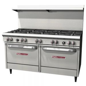Commercial Range, 60 Inch, 10 Burners, 2 Ovens, Gas