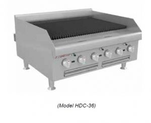 """18"""" Countertop Gas Radiant Charbroiler"""