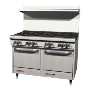 Commercial Range, 48 Inch, 8 Burners, 2 Ovens, Gas