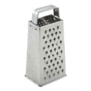 Stainless Steel Tapered Box Grater with Handle