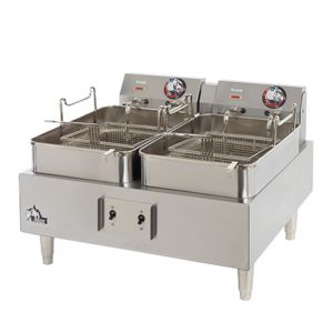 30 lb Double Frypot Electric Fryer