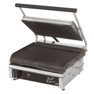 Grill Express™ Two-Sided Electric Grill with Grooved Grill Plates