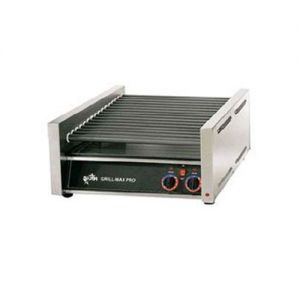 Star Grill-Max 30 Hot Dog Roller Grill Chrome Infinite Control 120v