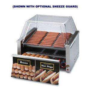 Star Grill-Max 30 Hot Dog Roller Grill Duratec w/Bun Drawer 120v