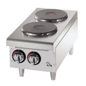 Hot Plate, 2 Solid Burners, Electric Hot Plate