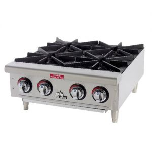 Hot Plate, 6 Burner, Natural/Propane Gas Hot Plate