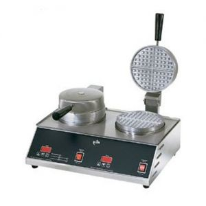 Standard Waffle Maker, Double 7 Inch Round, 120v
