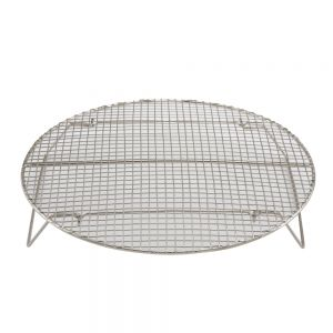 "Winco STR-10 Steamer Rack with Built-In Feet, 10"" Dia."