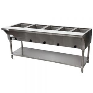 Electric Hot Food Table - 5 Wells, 240V