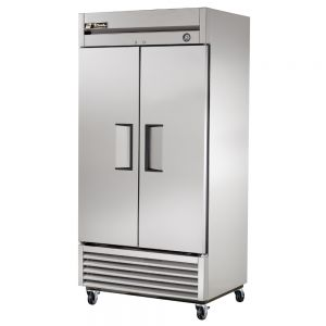 Commercial Refrigerator, Solid 2 Door, 35 Cu. Ft., S/S