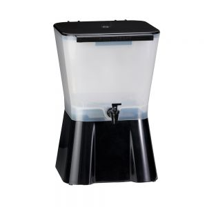 Tablecraft 953 3 Gallon Black Beverage Dispenser
