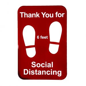 "Tablecraft 10540 Thank You for Social Distancing Sign - 9"" x 6"""