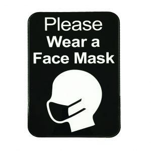 "Tablecraft 10542 Please Wear a Face Mask Sign - 9"" x 6"""