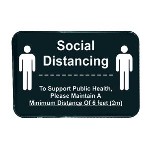 "Tablecraft 10595 Social Distance Sign - 6"" x 9"""
