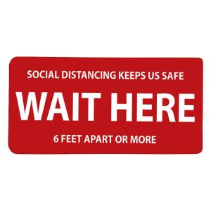 "Wait Here Floor Sign - 6"" x 12"""