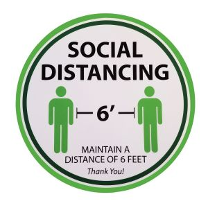Tablecraft 10614 Social Distancing Floor Sign