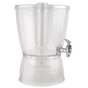 1.5 Gallon Clear Beverage Dispenser with Inufuser