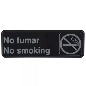 "Tablecraft 394589 No Fumar No Smoking Sign - 3"" x 9"""