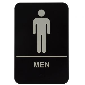 Tablecraft 695635 Men Restroom Sign - 6