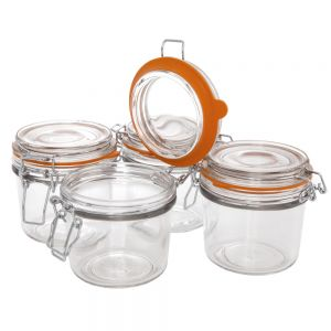4 Piece Condiment Jar Set