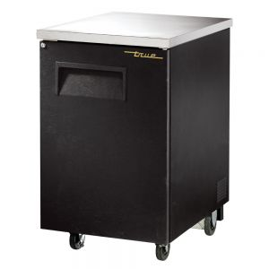 Back Bar Cooler, 1 Door, Holds 1 Each 1/2 Keg, Black