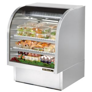 Deli Case, Curved Glass Deli Case, 36-1/4 Inch, Stainless Steel