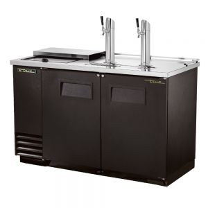 Club Top Draft Beer Cooler, 2 Keg Capacity, Black