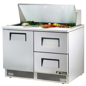 Food Prep Table, One Door, Two Drawer, 48 Inches